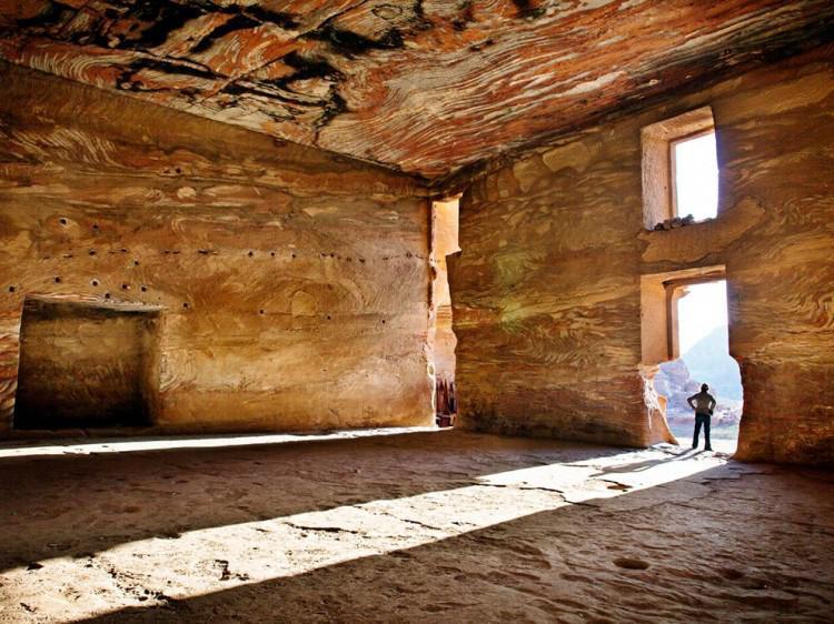 Interior de la tumba de Petra